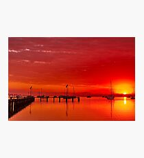 """Hot Autumn Dawn"" Photographic Print"
