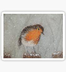 I Love Snow Sticker