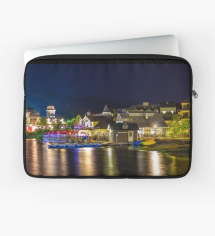 Blue Mountain Village at night Laptop Sleeve