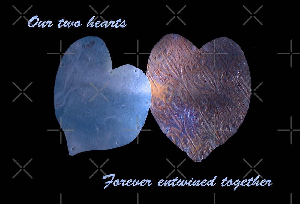 Our two hearts forever entwined together by Deborah McGrath