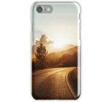Road at sunset iPhone Case/Skin