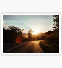 Road at sunset Sticker