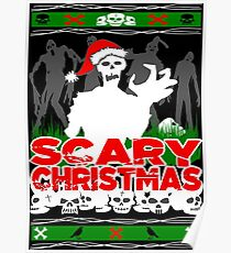 Scary Christmas Zombies Poster