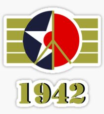 1942 - US Army Air Corps/Japanese Airforce Peace Logo Sticker