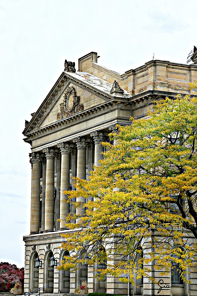 """Luzerne County Courthouse In Fall"" by Gail Jones"