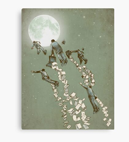 Flight of the Salary Men (color option) Canvas Print