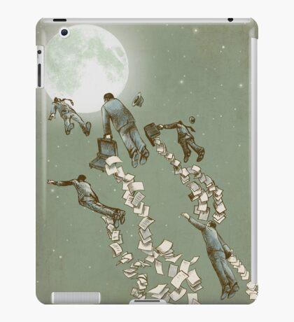 Flight of the Salary Men (color option) iPad Case/Skin