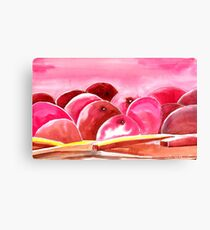 Peach fuzzy Canvas Print