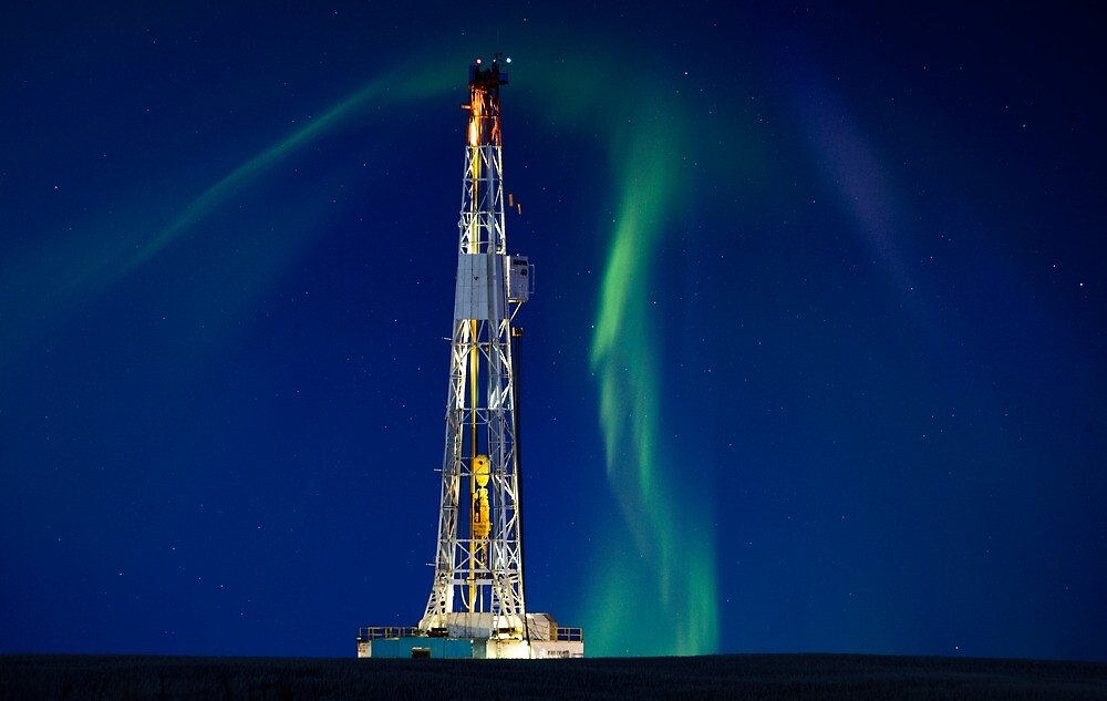 Drilling Rig Potash Mine by pictureguy