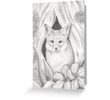 Desert Fox in Hallow Tree Greeting Card