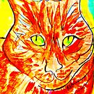 Green-Eyed Orange Tabby by artqueene