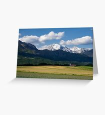 Spring in the Alps Greeting Card
