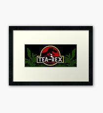 Tea Rex Framed Print
