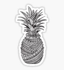Pineapple Wrap   black & white Sticker