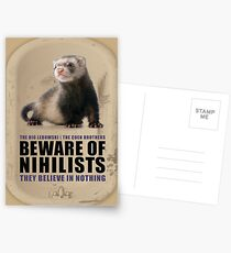 Beware of Nihilists Postcards