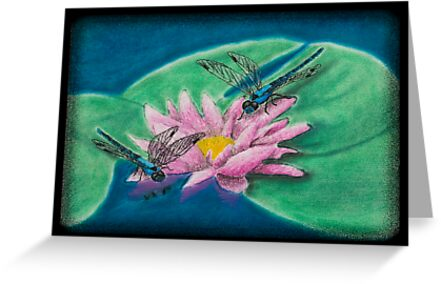 Dragonflies on Water Lily by jkartlife