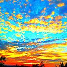 Colored Popcorn Sunset by artqueene