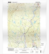USGS TOPO Map New Hampshire NH Grantham 329582 1998 24000 Poster