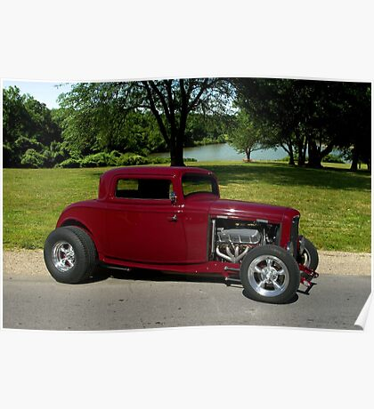 1932 Ford Coupe Hot Rod Poster