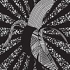 Banana Wrap |BLACK&WHITE| by Janine Lecour