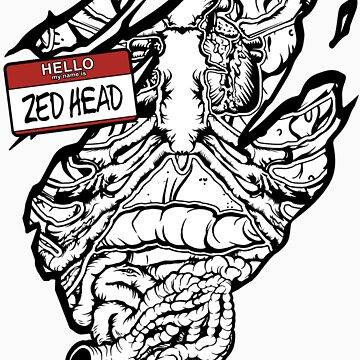 HELLO my name is ZED HEAD (dark colors) by cabassi