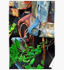 Old truck hood latch Poster