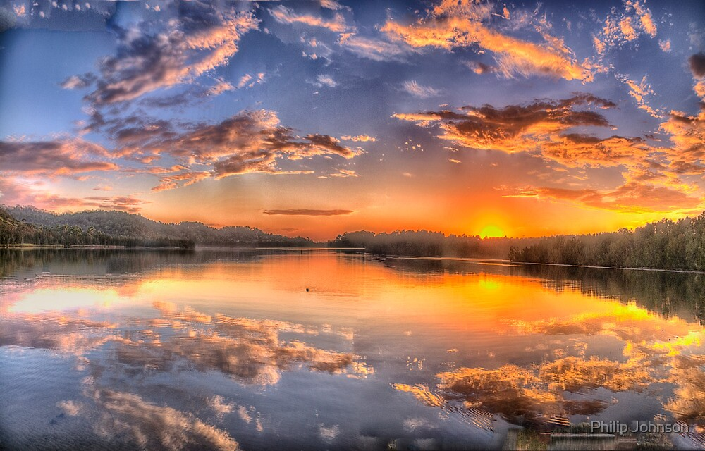 Painted Sky #2 - Narrabeen Lakes, Narrabeen - The HDR Experience by Philip Johnson