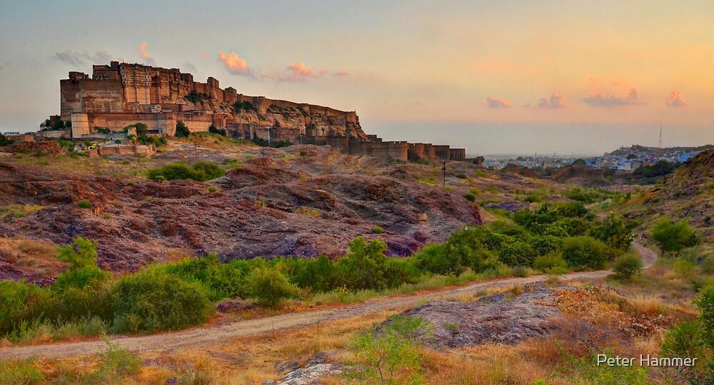 Mehrangarh Fort at Dusk by Peter Hammer