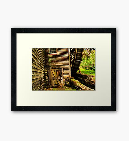 Door to the Old Mill Framed Print