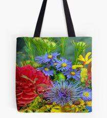 Floral V Tote Bag