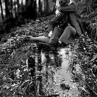 lovers in a landscape - (true love knows not of weather or terrain) by Loui  Jover