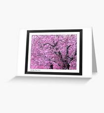 """""""Pink Apple Blossoms on the Ridge"""" Greeting Card"""