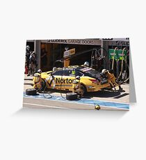 2013 Clipsal 500 Day 3 V8 Supercars - Caruso Pit Stop Greeting Card