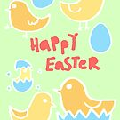 Happy Easter Chicks by Cat Bruce