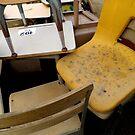 Yellow Chair Among The Desks by WildestArt
