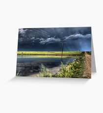 Storm Clouds Saskatchewan billowing clouds and gravel road Greeting Card