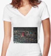 Boing 747 Women's Fitted V-Neck T-Shirt