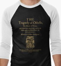 Shakespeare, Othello. Versión de ropa oscura Camiseta ¾ bicolor para hombre