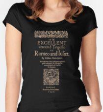 Shakespeare, Romeo y Julieta. Versión oscura de la ropa Camiseta entallada de cuello redondo