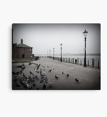 Pigeons on the Promenade.  Canvas Print