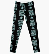 Excuse Me While I Science: Think Like A Proton and Stay Positive Leggings