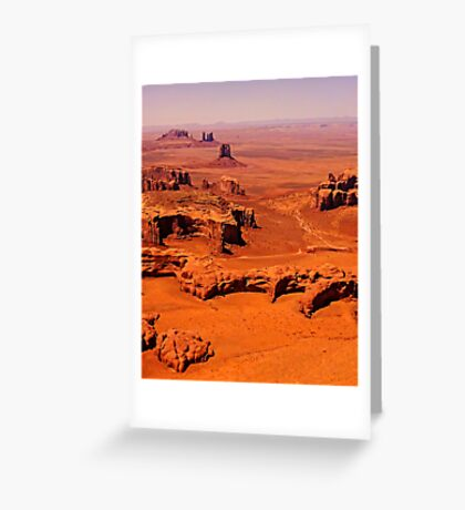 The Long View - Monument Valley, Utah, USA Greeting Card