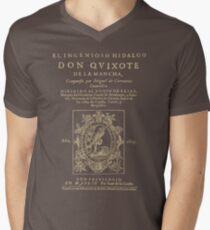 Cervantes, Don Quijote de la Mancha. Dark clothes version Men's V-Neck T-Shirt