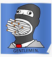 Gentlemen TF2 Spy Poster
