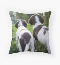 Watching the chickens Throw Pillow
