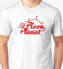 Pizza Planet! Ooooohhh! Slim Fit T-Shirt