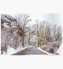 Snow Dusted Colorado Scenic Drive Poster
