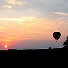 Ballooning at sunset by Greg  Walker