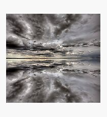 Saskatchewan Lake Reflection Chaplin Canada clouds Photographic Print