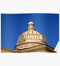 Lincoln, Illinois - Courthouse Dome Poster